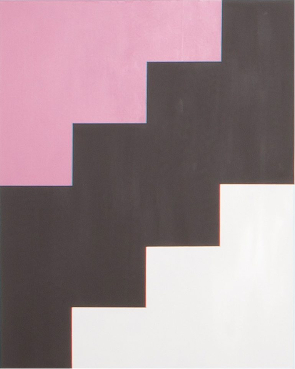 Untitled (Pink, Brown and White)