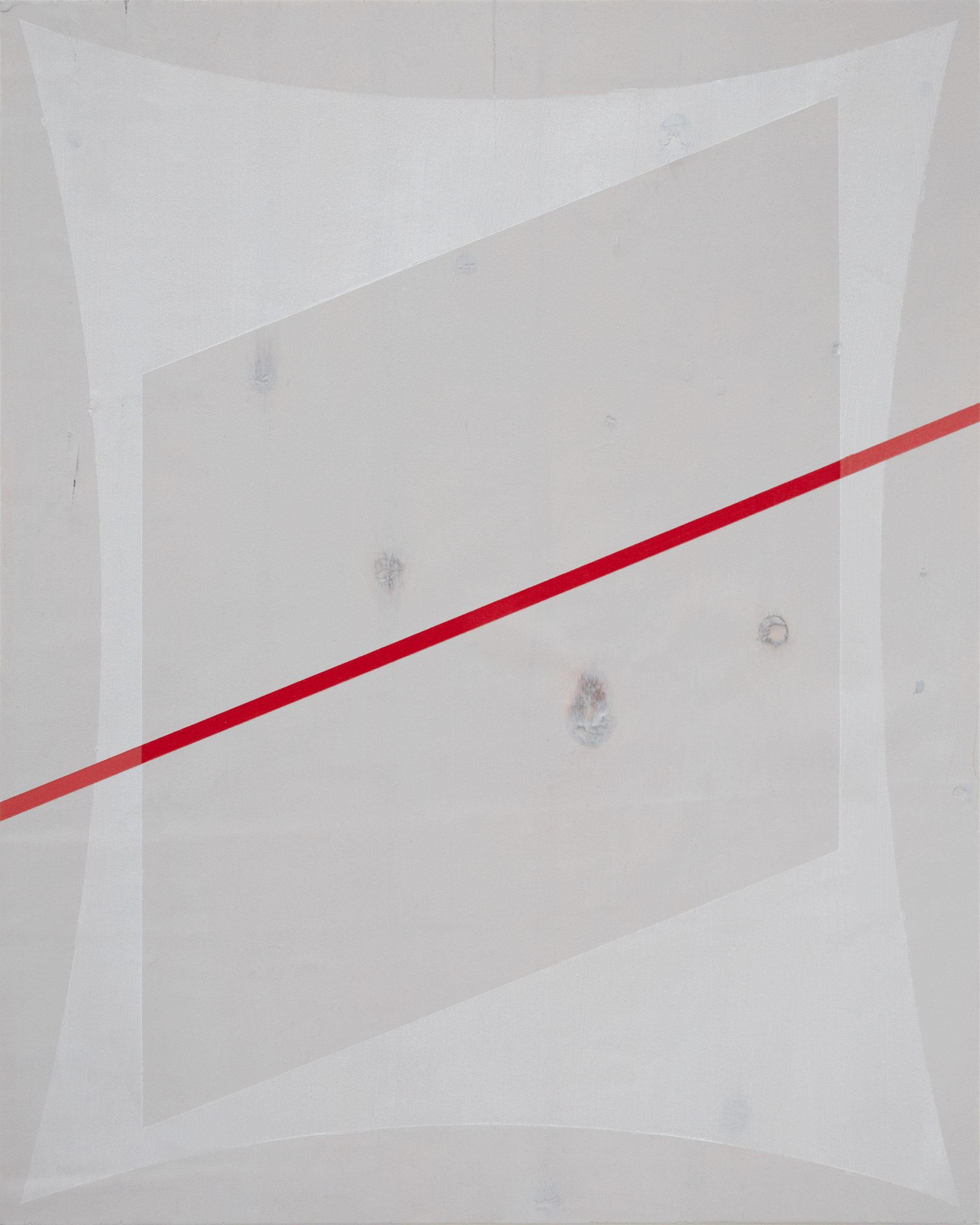 Untitled (Red Slant 'over' Grey)