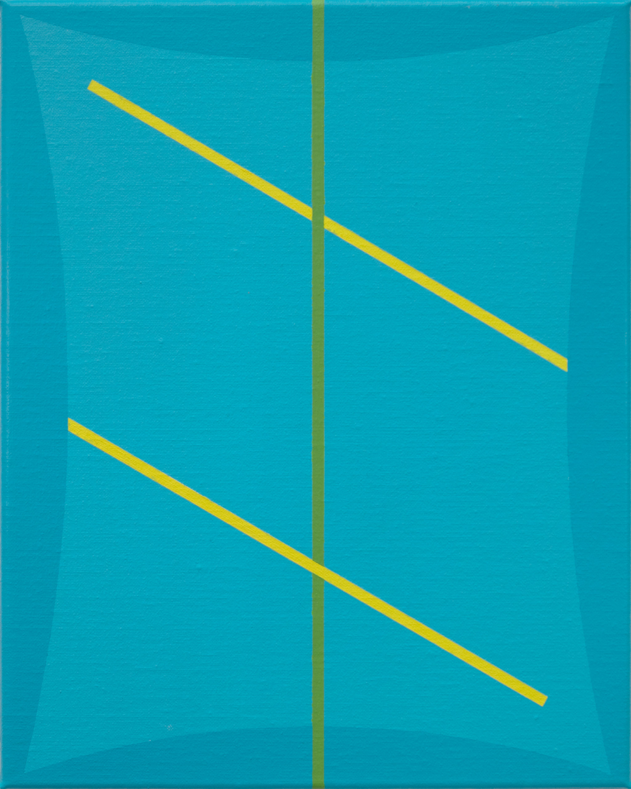 Untitled (Two Blues Green and Yellow)