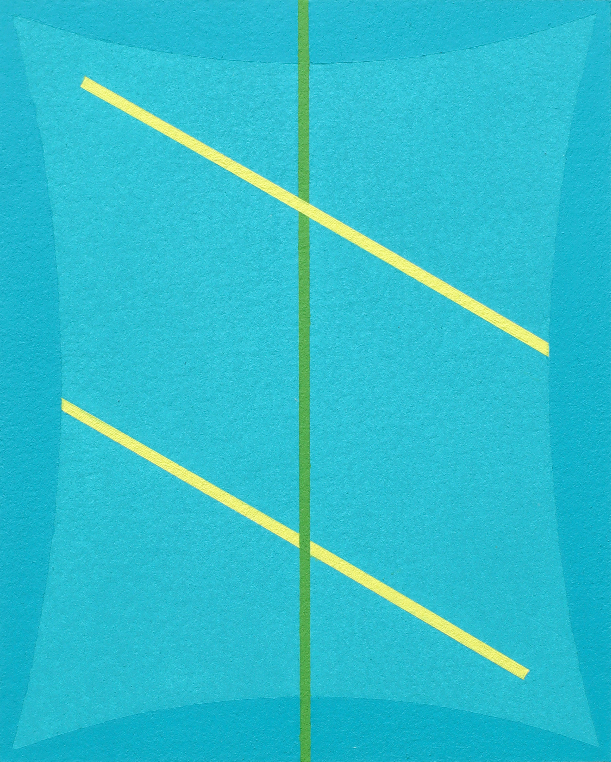 Untitled (Two Blues Yellow and Green)
