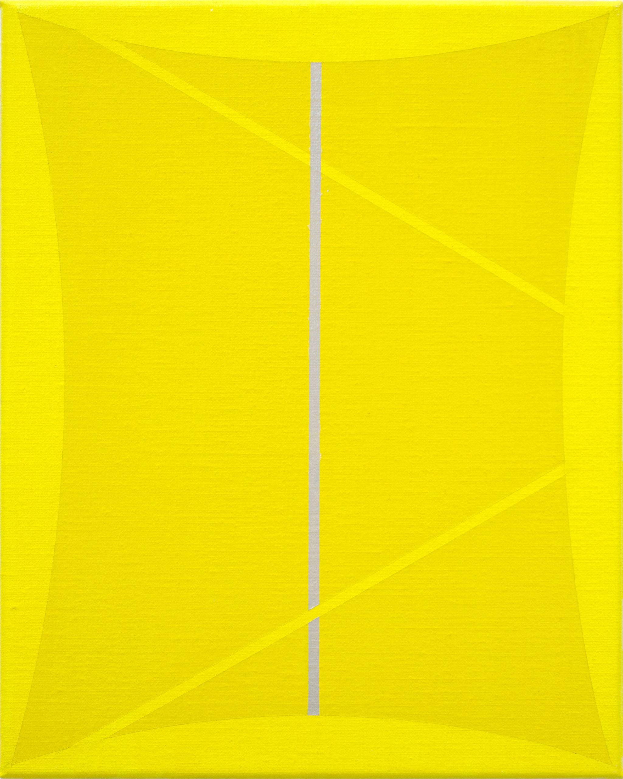 Untitled (Two Yellows and Silver)